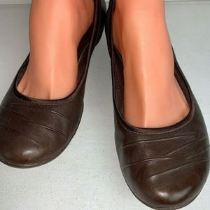 Clarks Privo Slip Ons Brown Leather Loafer Size 9